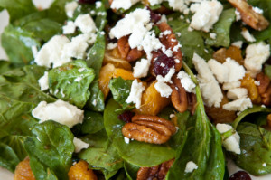 Salad with walnuts 300x199 Moderation vs. Deprivation