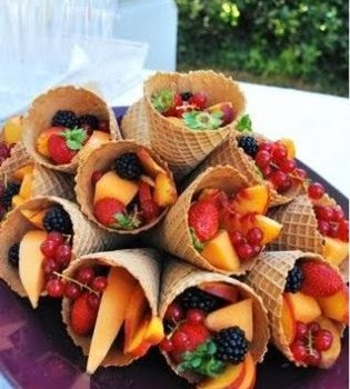 SkinnyTimes.Fruit Filled Waffle Cone