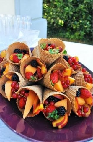 SkinnyTimes.Fruit Filled Waffle Cone Fruit Filled Waffle Cones