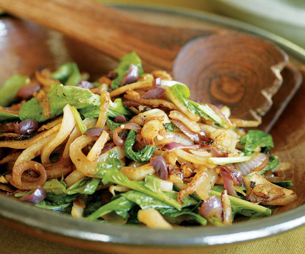 Sauteed Fennel Sautéed Fennel & Red Onion with Arugula