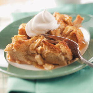 Caramel apple bread pudding Caramel Apple Bread Pudding