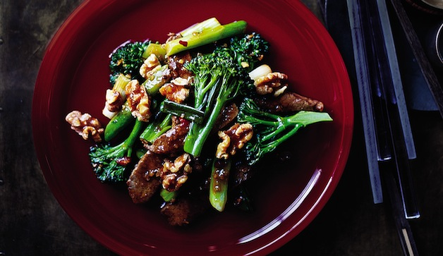 Gingered Beef with Broccolini and Walnuts Gingered Beef with Broccolini and Walnuts