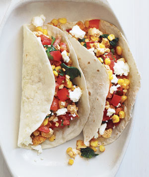 vegetarian tacos with.goat .cheese Vegetarian Tacos With Goat Cheese