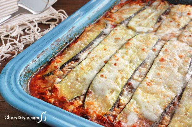 noodleless zucchini lasagna Noodle Less Zucchini Lasagna